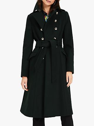 Damsel in a Dress Elletra Wool Blend Knee Length Coat, Green
