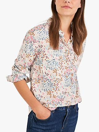 White Stuff Floral Printed Blouse, Ivory/Multi