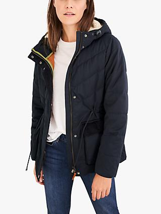 White Stuff Flynn Padded Jacket, Dark Navy