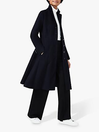 Hobbs Milly Riding Coat, Navy
