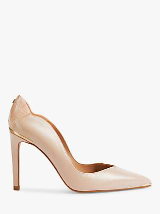 Ted Baker DaysII Leather Court Shoes, Pink Nude