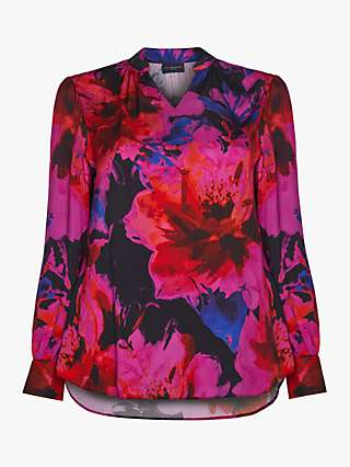 Live Unlimited Digital Floral Blouse, Pink/Multi