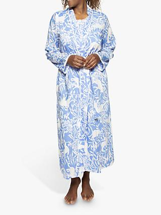 Nora Rose by Cyberjammies Elizabeth Animal Print Robe, Blue