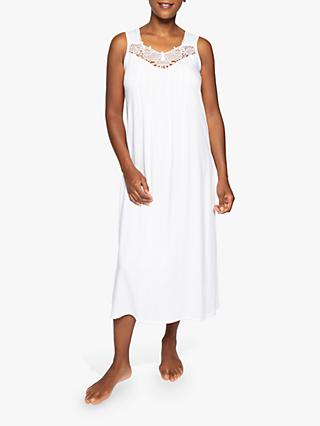 Nora Rose by Cyberjammies Elizabeth Midi Nightdress, White