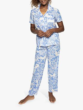 Nora Rose by Cyberjammies Elizabeth Short Sleeve Pyjama Set, Blue