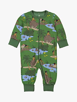 Polarn O. Pyret Baby GOTS Organic Cotton Jungle Book Print Onesie, Green