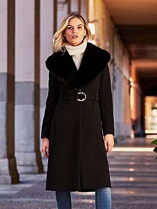 Sosandar Belted Tailored Coat, Black