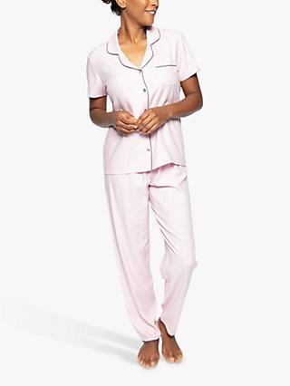 Nora Rose by Cyberjammies Lucy Micro Dot Pyjama Set, Pink
