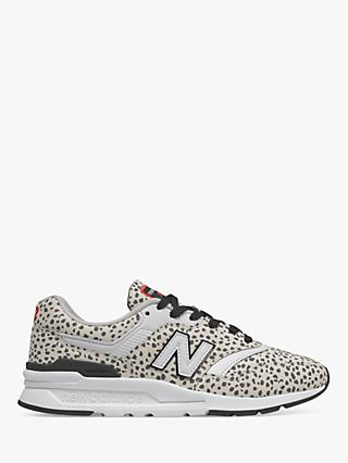 New Balance CW997HPS Dalmation Suede Trainers, Sea Salt