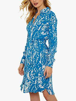 Sosandar Abstract Print Shirt Dress, Blue/Multi