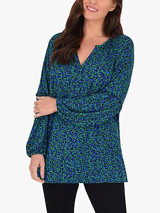 Live Unlimited Curve Ditsy Print Shirt, Green/Multi