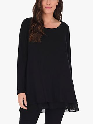 Live Unlimited Curve Cross Detail Top, Black
