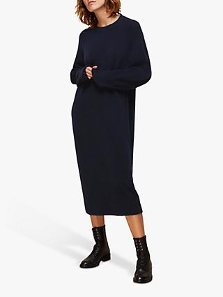 Whistles Midi Length Knit Dress