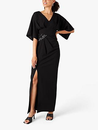 Monsoon Kirsty Embellished Maxi Dress, Black