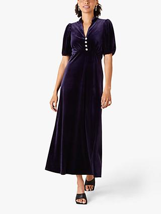 Monsoon Veronique Midi Dress, Plum