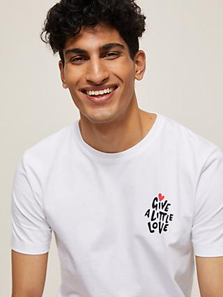 Give a Little Love Cotton T-Shirt, White