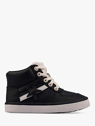Clarks Junior City Flake High Top Trainers