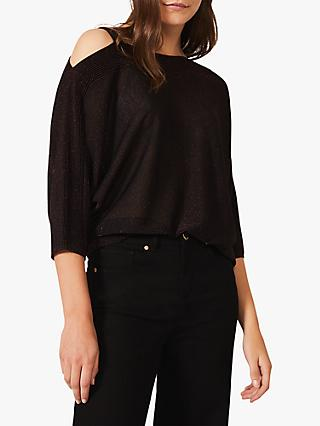 Phase Eight Aine Shoulder Strap Blouse, Port