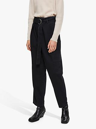 Selected Femme Dora High Waist Jeans, Black