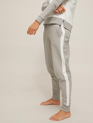 John Lewis & Partners Savannah Contrast Side Striped Jogger Bottoms