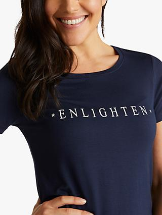 M Life Enlighten Short Sleeve Yoga Top, Navy