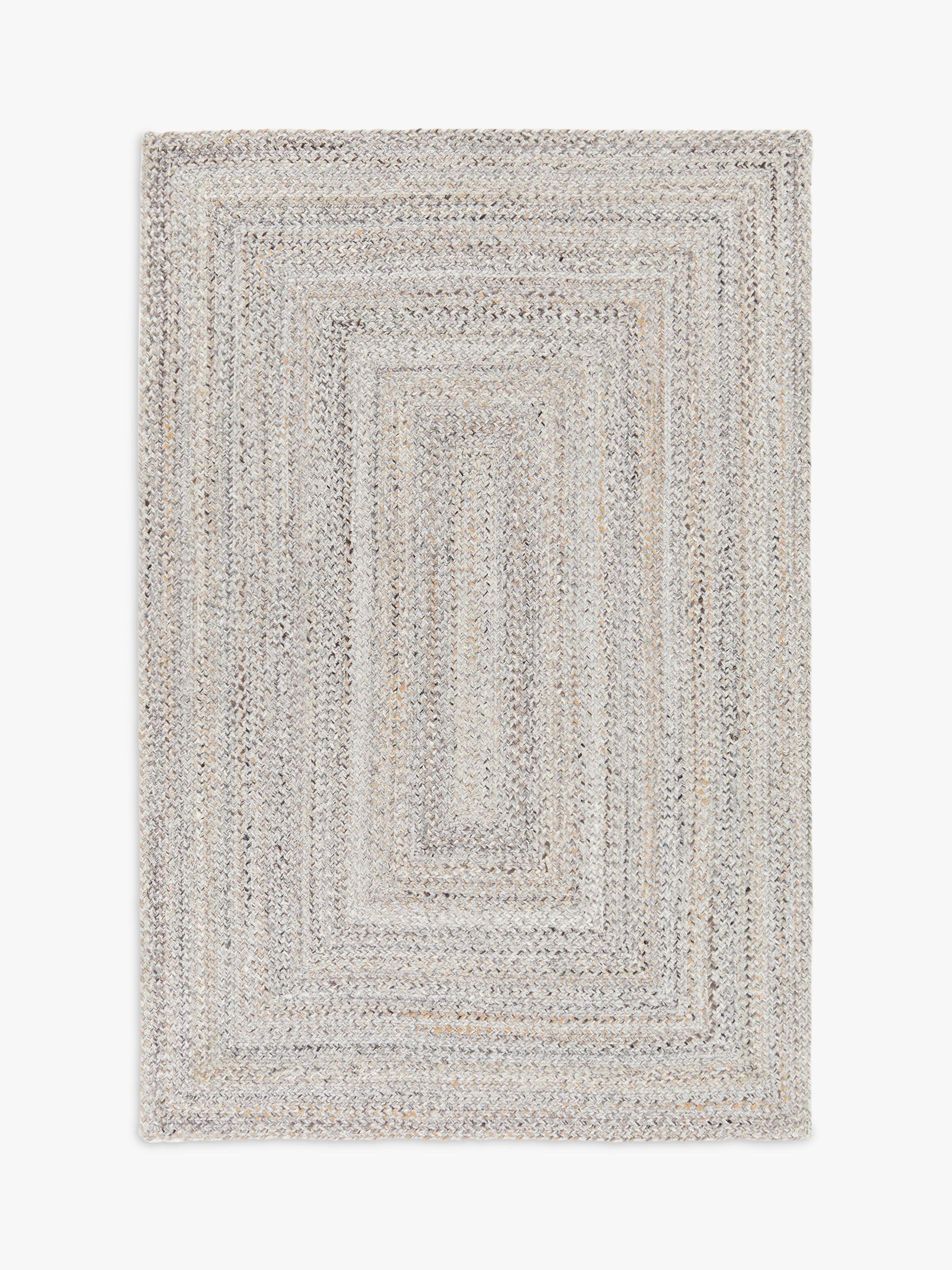 John Lewis & Partners Indoor & Outdoor Braided Rug, Marl Grey