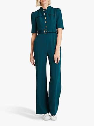Damsel in a Dress Annika Wide Leg Jumpsuit, Green