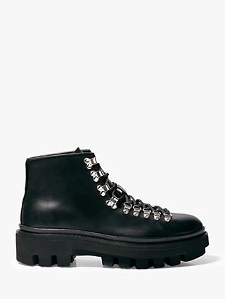 AllSaints Isaac Leather Boots, Black