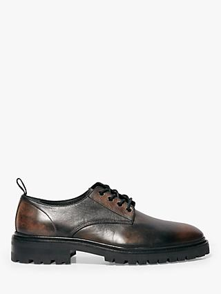 AllSaints Lace Up Brogues, Dark Brown