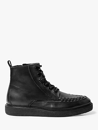 AllSaints Arden Leather Boots, Black