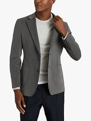 Reiss Monument Moleskin Slim Fit Suit Jacket, Charcoal