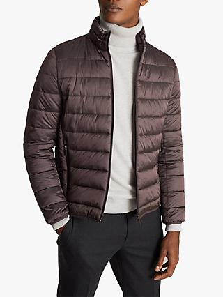 Reiss Armstrong Quilted Funnel Neck Jacket