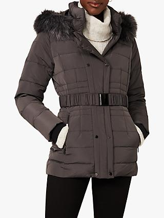 Phase Eight Leona Puffer Coat, Grey