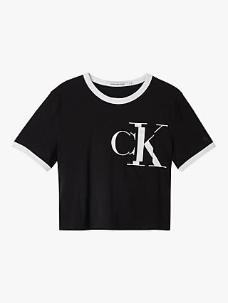 Calvin Klein Jeans Distorted Logo T-Shirt, CK Black/White
