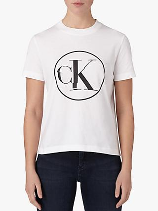 Calvin Klein Circle Logo T-Shirt, Bright White