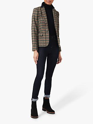 Hobbs Blake Check Wool Jacket, Camel/Multi