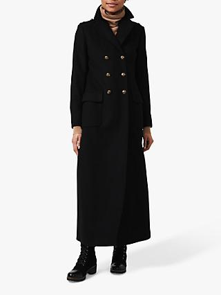 Hobbs Bianca Wool Blend Maxi Coat, Black