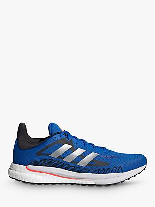 adidas SolarGlide Men's Running Shoes, Football Blue/Silver Metallic/Solar Red