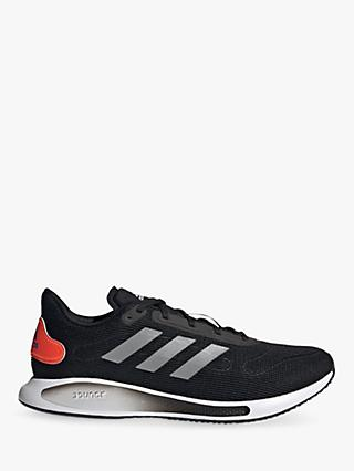 adidas Galaxar Run Men's Running Shoes, Core Black/Silver Metallic/Solar Red