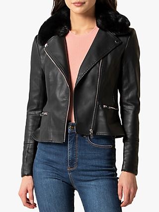 Forever New Essa Biker Jacket, Black