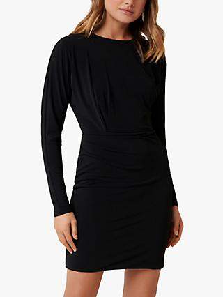 Forever New Cara Draped Dress, Black