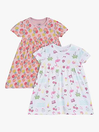 Mini Cuddles Baby Fruity Dress, Pack of 2, Multi