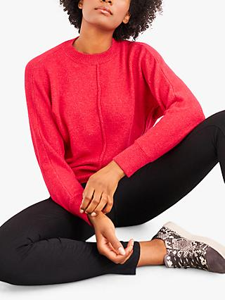 White Stuff Relax Jumper, Bright Red