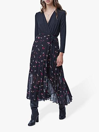 French Connection Marmo Wrap Dress, Black