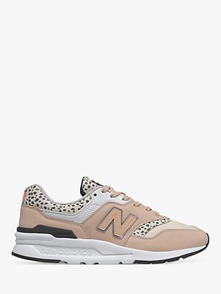 New Balance CW997HPR Dalmation Leather Trainers, Pink