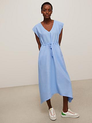 John Lewis & Partners Hanky Hem Linen Dress