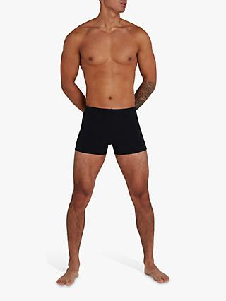 Speedo Boom Logo Splice Swim Shorts, Black/Light Adriatic