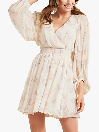 Forever New Peyton Floral Skater Dress, Pale Pink