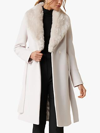 Forever New Eve Maxi Coat, True Cream