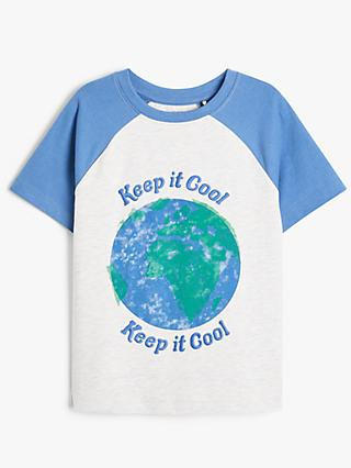 John Lewis & Partners Kids' Keep It Cool Short Sleeve T-Shirt, Blue/Multi